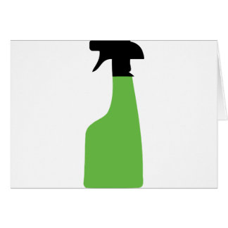 cleaning aerosol can green card