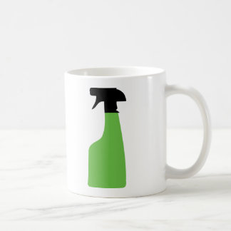 cleaning aerosol can green coffee mug
