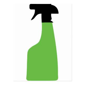 cleaning aerosol can green postcard
