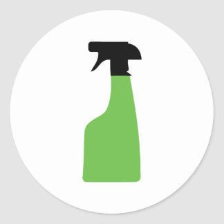 cleaning aerosol can green sticker