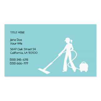 Cleaning and Housekeeping Business Card