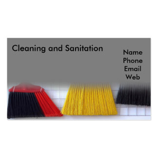 Cleaning and Sanitation Services Business Card