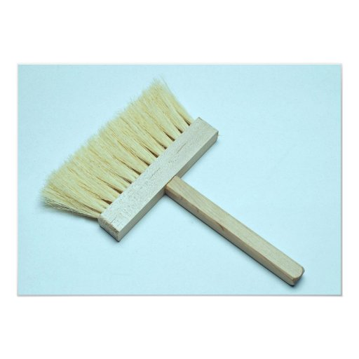 Cleaning brush invitations