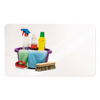 cleaning bucket and brush cleaner business card