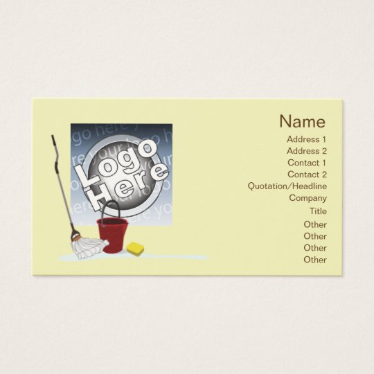 Cleaning - Business Business Card