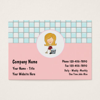 Cleaning Business Cards Large