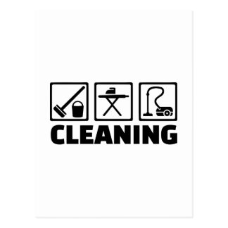 Cleaning housekeeping post cards