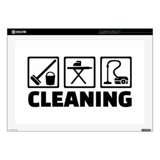 Cleaning housekeeping skin for laptop