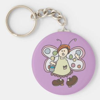 Cleaning Lady Bug Fairy Cartoon Key Chain