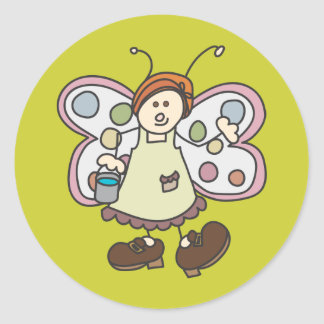 Cleaning Lady Bug Fairy Cartoon Stickers