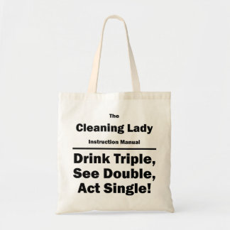 cleaning lady tote bag