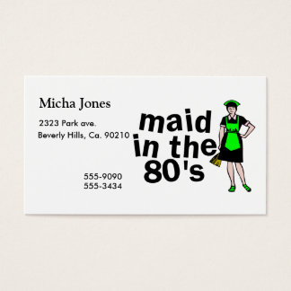 Cleaning Maid In The 80's Business Card