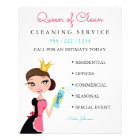 Cleaning Maid Service Brunette Character Crown Flyer