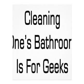 Cleaning One's Bathroom Is for Geeks Letterhead