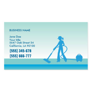 Cleaning Professionals Business Card Template