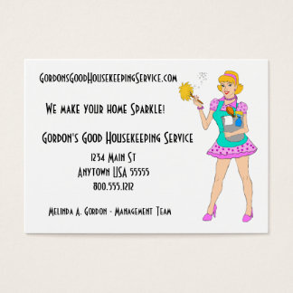Cleaning Service And Housekeeping Business Cards