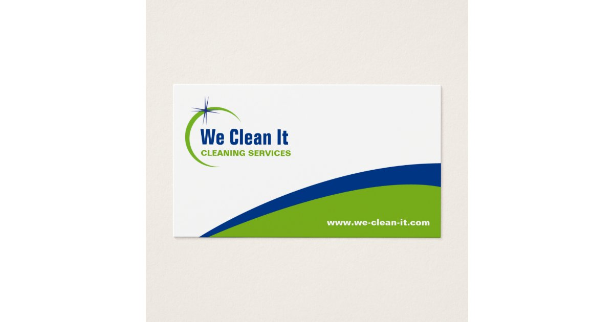 Cleaning Service Business Card | Zazzle.com