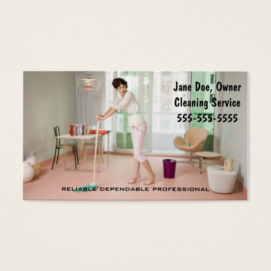 Cleaning Service Business Card