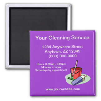 Cleaning Service Business Card Magnet
