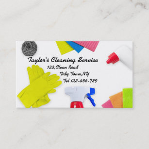 Cleaning services business cards zazzle cleaning service business card template accmission Images