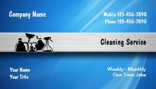 cleaning service business cards - Cleaning Company Business Cards