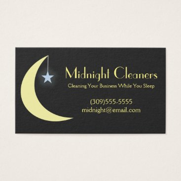 Professional Business Cleaning Service Business Cards
