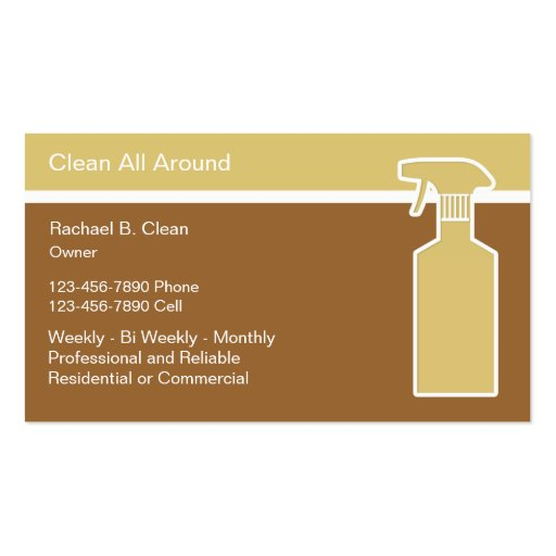 Cleaning Service Business Cards Modern