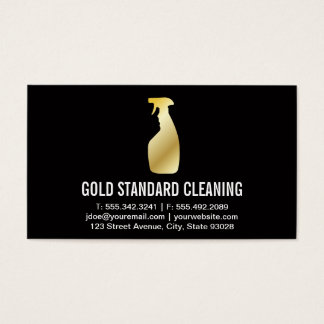 Cleaning Service (Gold) Business Card