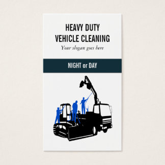 Cleaning Service heavy duty vehicles Business Card