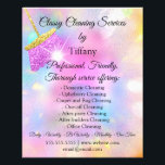 "Cleaning Service House Keeping Holograph Pink Flyer<br><div class=""desc"">florenceK dedicated for Tiffany collection</div>"