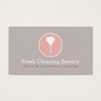 Cleaning Service, Housekeeper Vintage Style Business Card