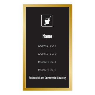 Cleaning Service Icon Business Card