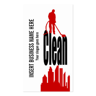 Cleaning Service industrial commercial PERSONALIZE Business Card