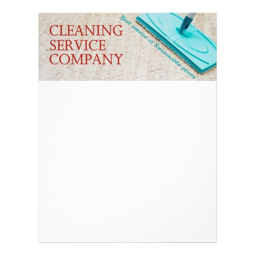 Cleaning service letterhead design