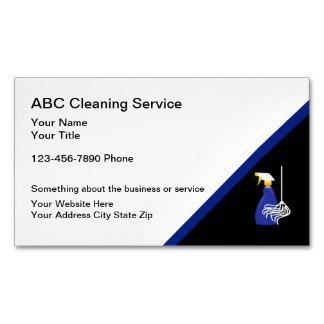 Cleaning Service Magnetic Business Card