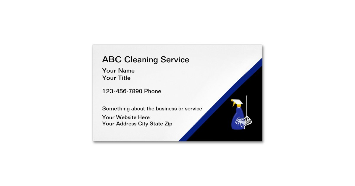 Cleaning Service Magnetic Business Card | Zazzle.com