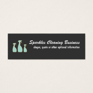 Cleaning Service Mini Business Cards