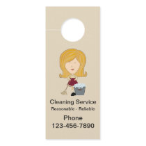 Cleaning Service Neighborhood Advertising Door Hanger