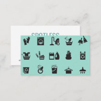 Cleaning Service Pattern Business Card