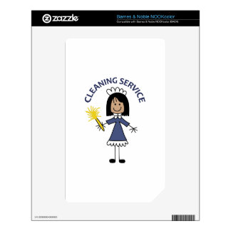 CLEANING SERVICE NOOK COLOR DECAL