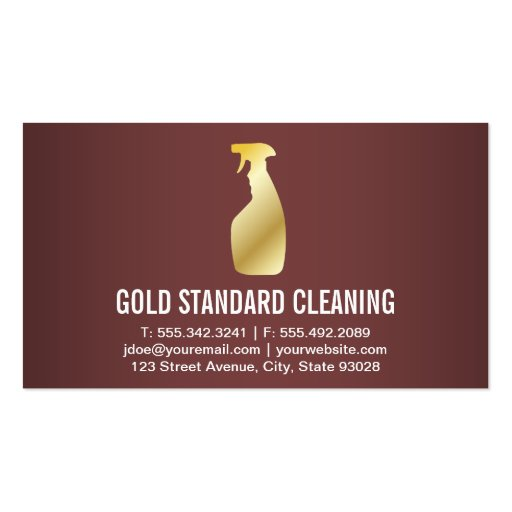 Cleaning Service Standard Business Card