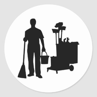 Cleaning service sticker