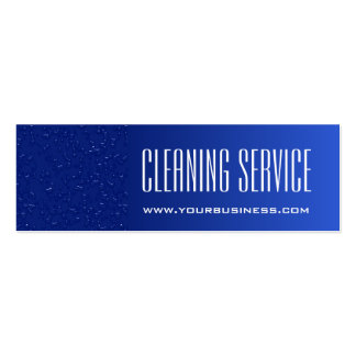 Cleaning Service - Water Drops Double-Sided Mini Business Cards (Pack Of 20)