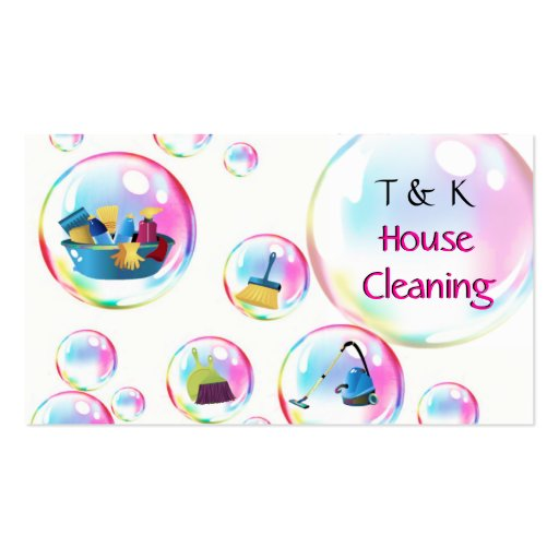 Cleaning Services Bubbles Business Card Zazzle