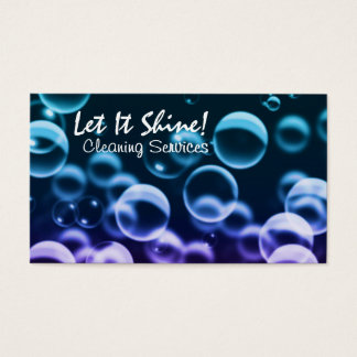 Cleaning Services Bubbles Dark Business Card