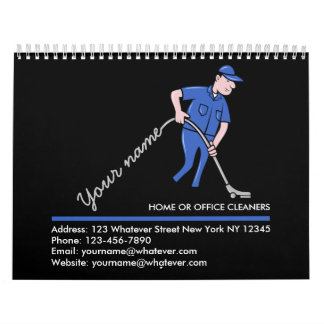 Cleaning services personalized calendar