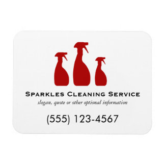 Cleaning Services Rectangular Photo Magnet