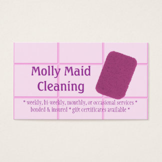 Cleaning Services Sponge Business Card