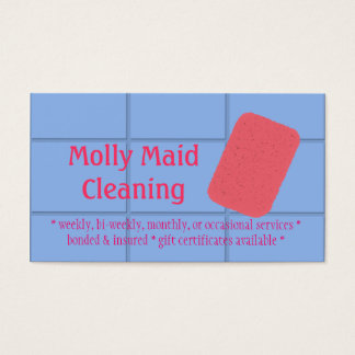 Cleaning Services Sponge Business Card Blue