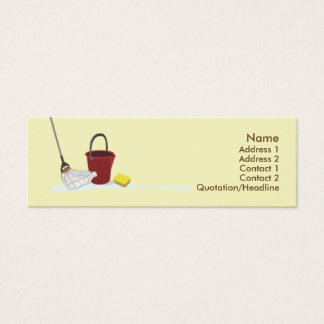 Cleaning - Skinny Mini Business Card